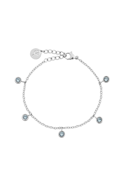 Armband Dew Drop Bracelet Multi Aqua Steel