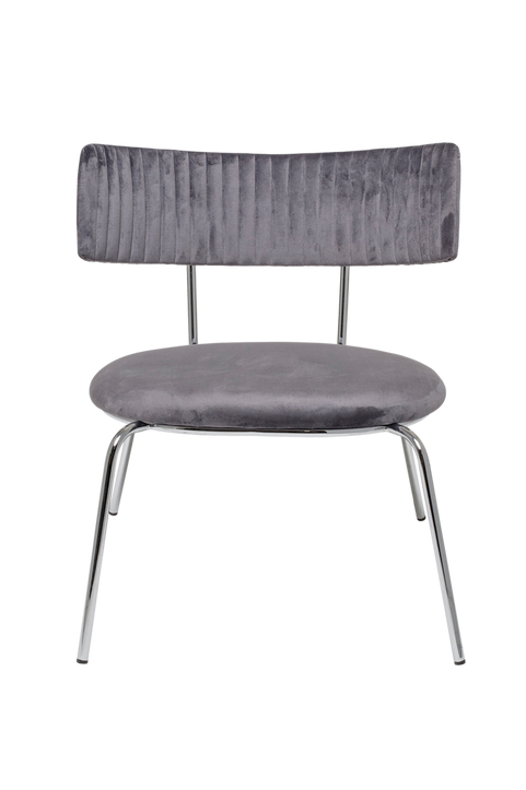 Wave Lounge Chair, Grey, Polyester