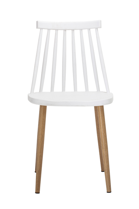 Bajo Chair, White, Plastic
