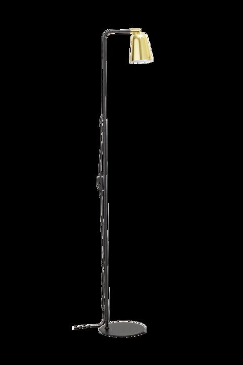 Vanessa Floor Lamp, Black, Metal