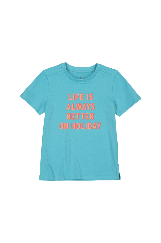 La Redoute T-shirt med tekstmotiv, økologisk bomuld