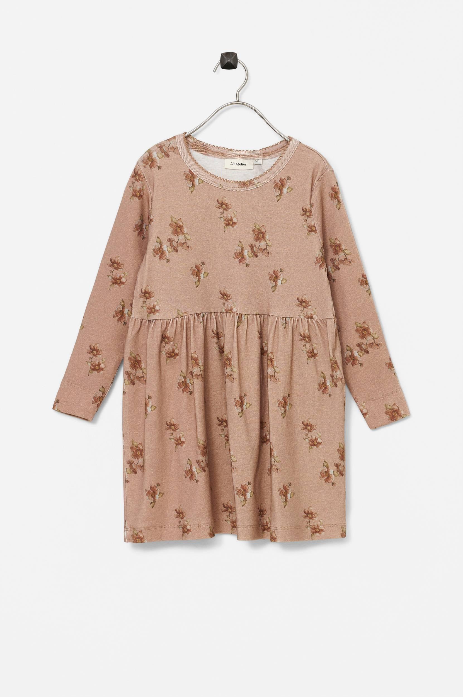 Name it - Klänning nmfGaya LS Dress AU Lil - Natur