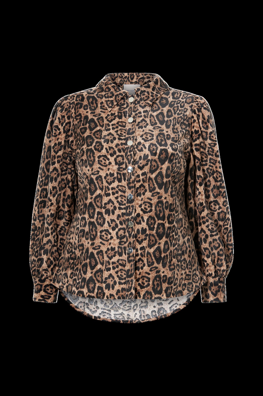 Only Carmakoma - Skjorta carFilabo LS Fuff Shirt Aop - Natur