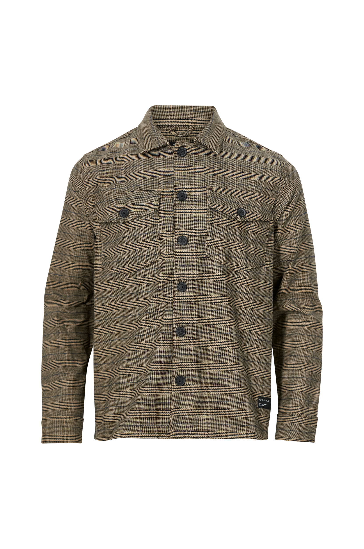 GABBA - Overshirt Clipper Ivy Check LS Shirt - Natur