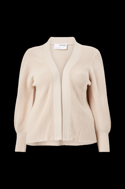 Selected FEMME CURVE - Cardigan slfAmmy LS Knit Cardigan B Curve - Natur