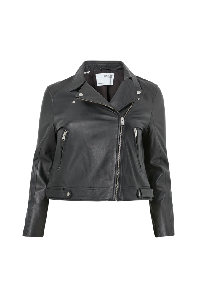 Selected FEMME CURVE Skindjakke slfKatty Leather Jacket B Curve