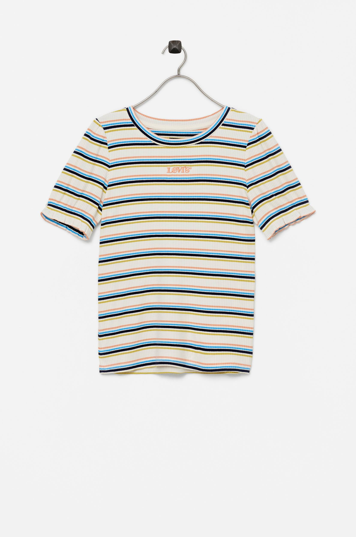 Levi's - Topp Lvg Full Slv Ribbed Tee Shirt - Natur