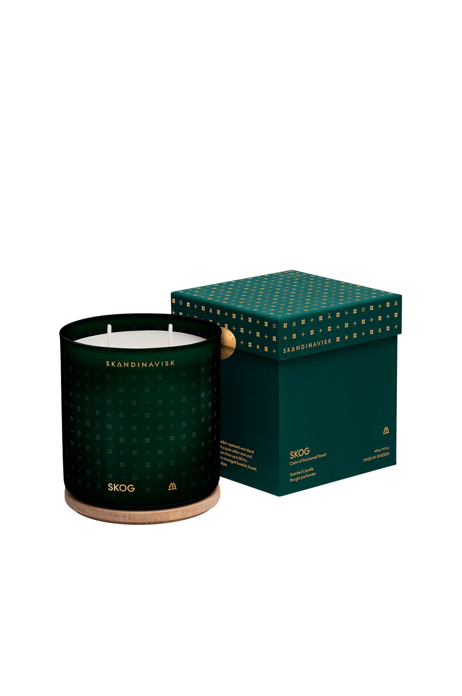 Skandinavisk - Skog Scented Candle Oak Lid 400g