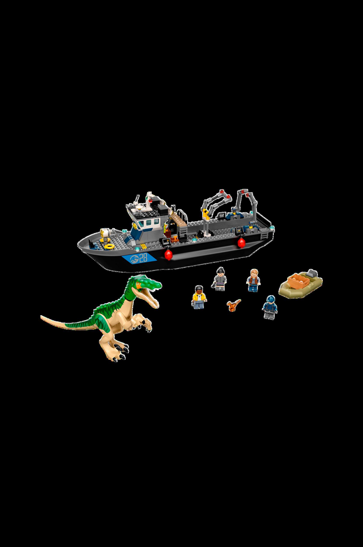 LEGO - Jurassic World - Båtflykt med Baryonyx
