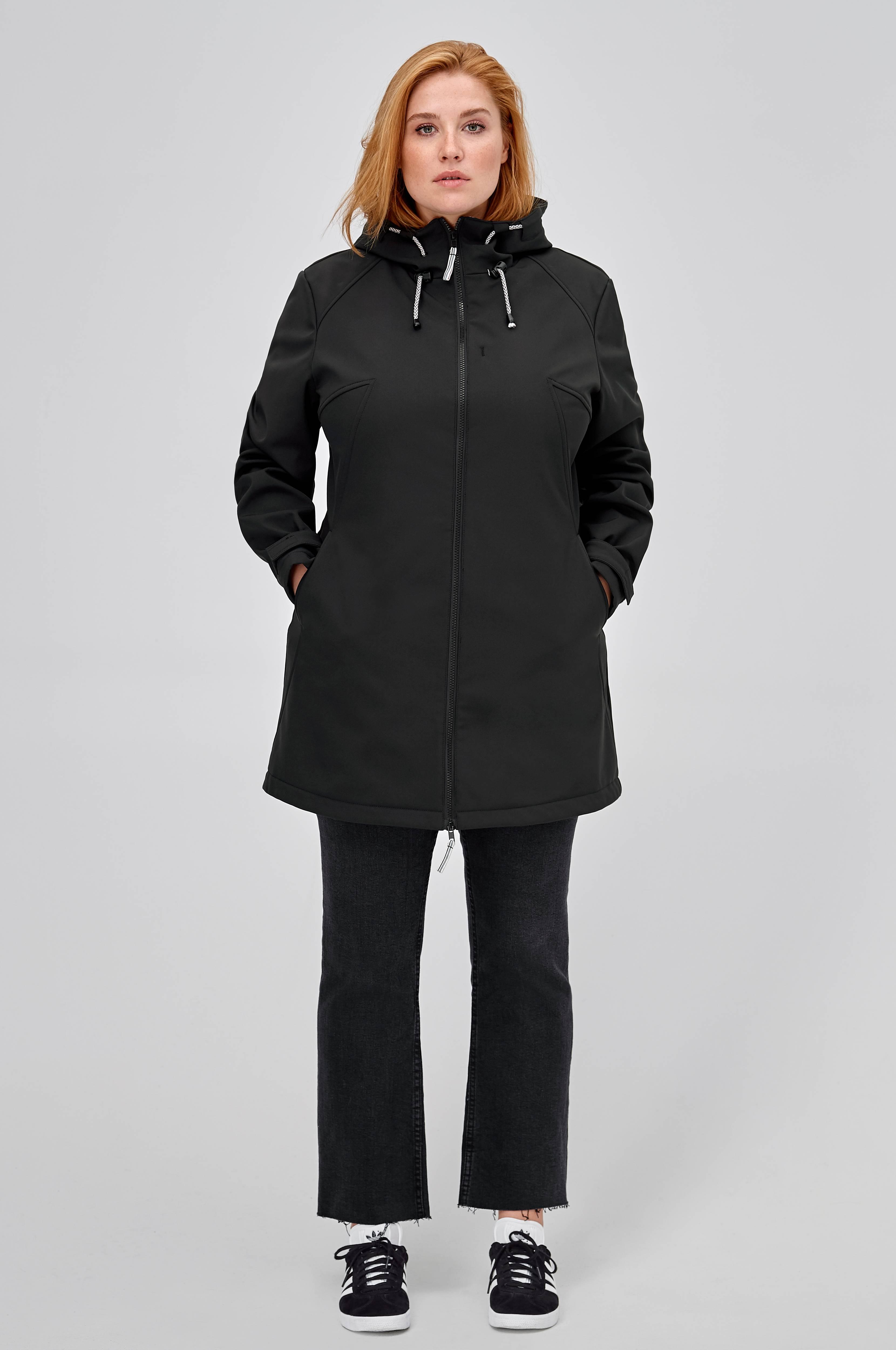 7ff860e4 Ellos Plus collection Softshell-jakke med hætte - Sort - Dame - Ellos.dk
