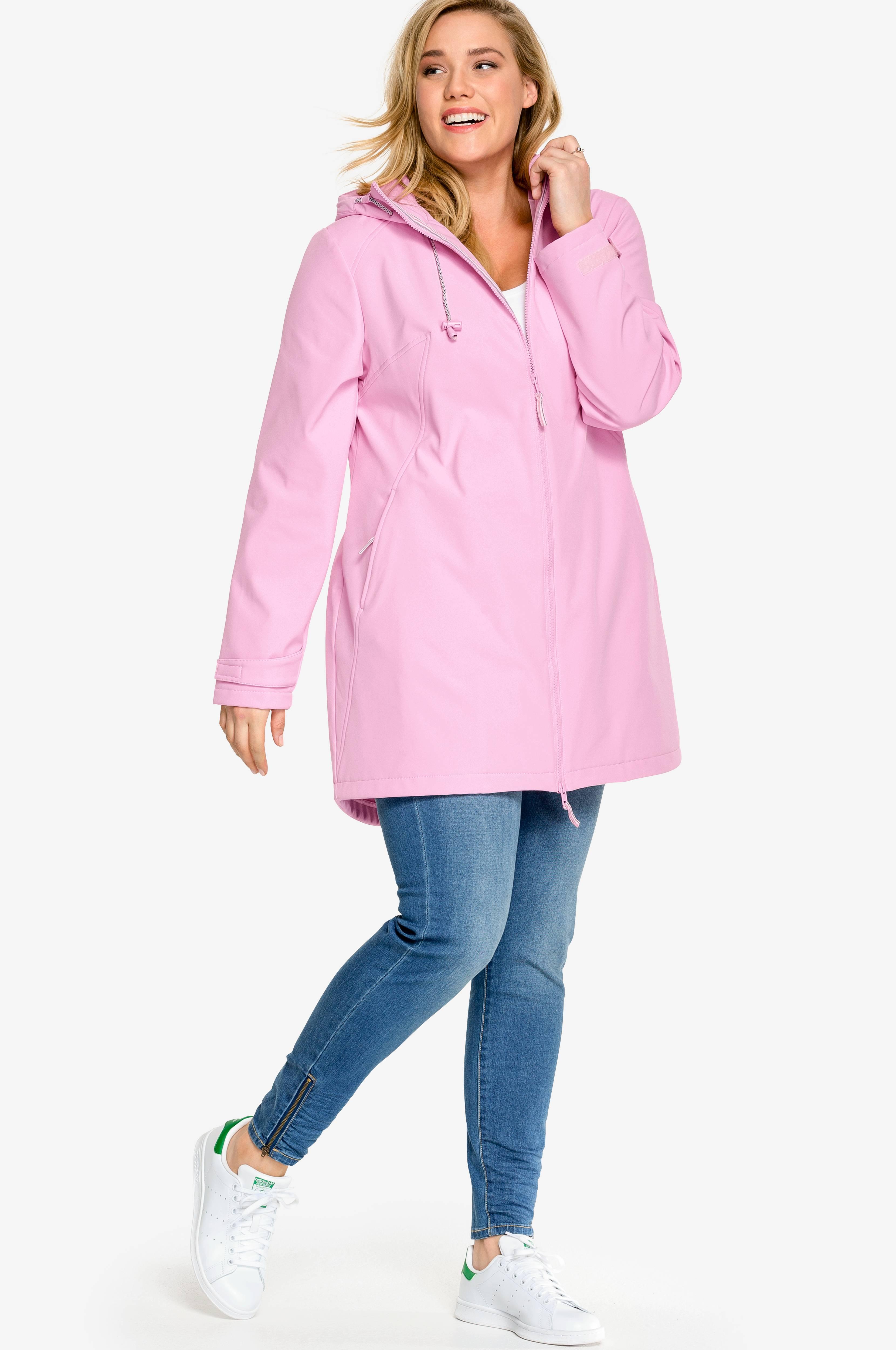 53a78a16 Ellos Plus collection Softshell-jakke med hætte - Rosa - Dame - Ellos.dk