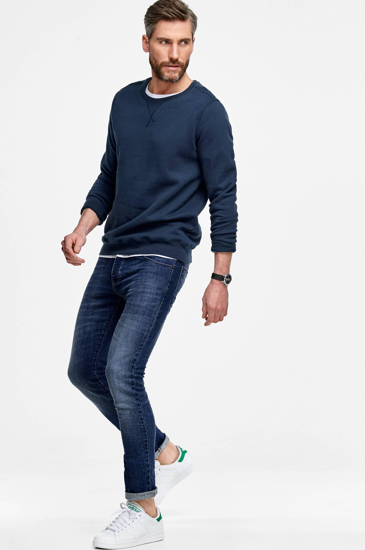 Sweatshirt med rund halsudskæring  Trøjer til Mænd i Marineblå