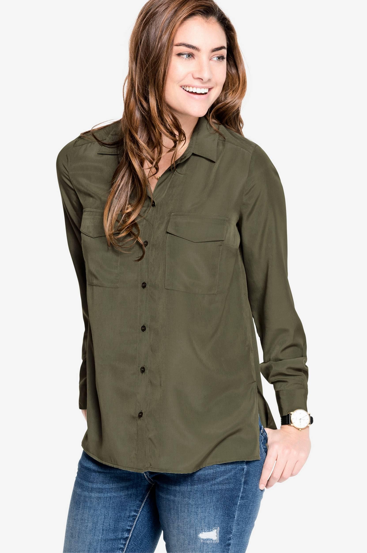 Skjorte Ingrid Ellos Skjorter & bluser til Kvinder i Lys kakigrøn