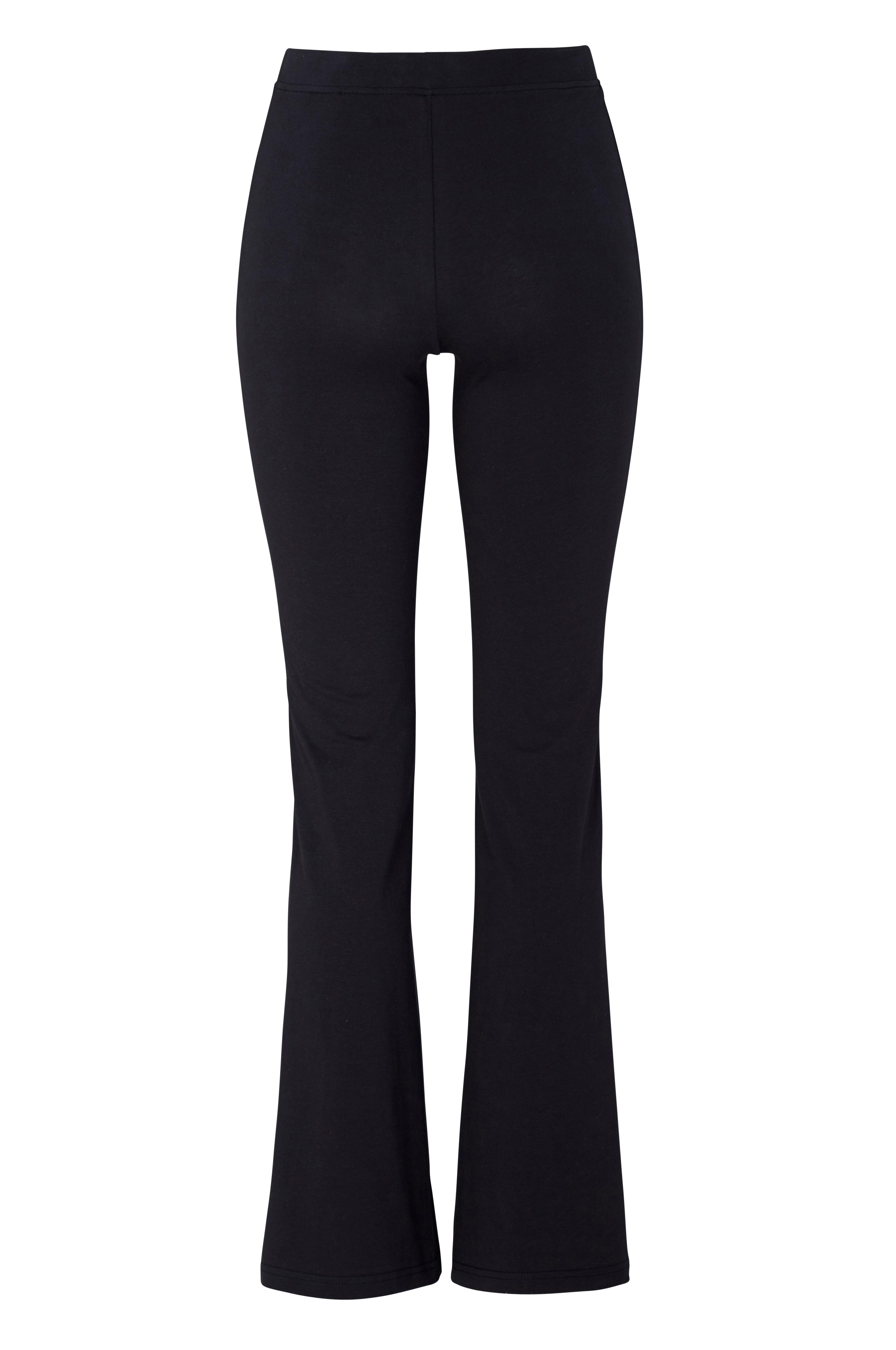 svarta utsvängda leggings