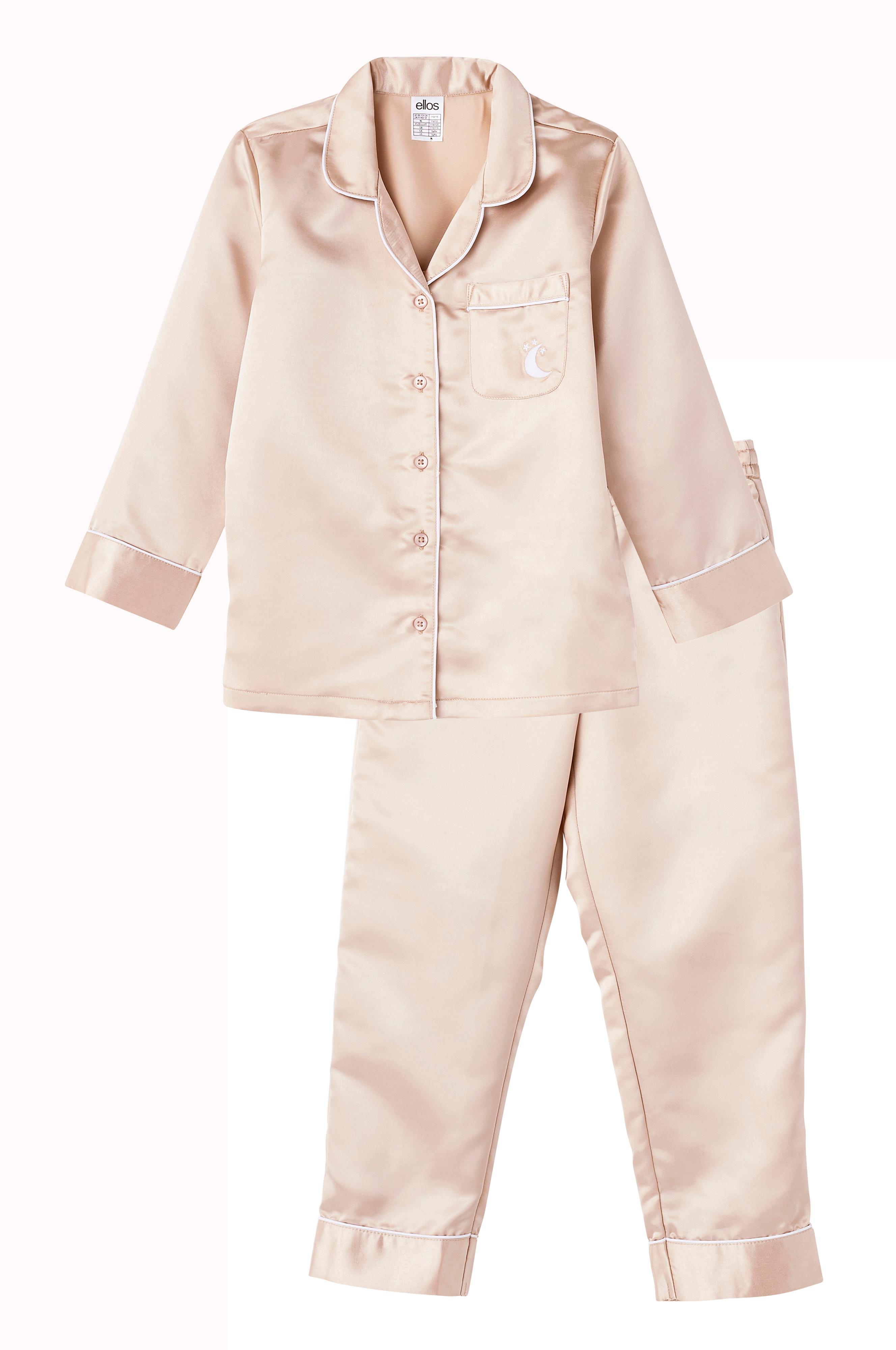 Ellos Kids Pyjamas Dream i sateng 2 deler Gull Barn Ellos no