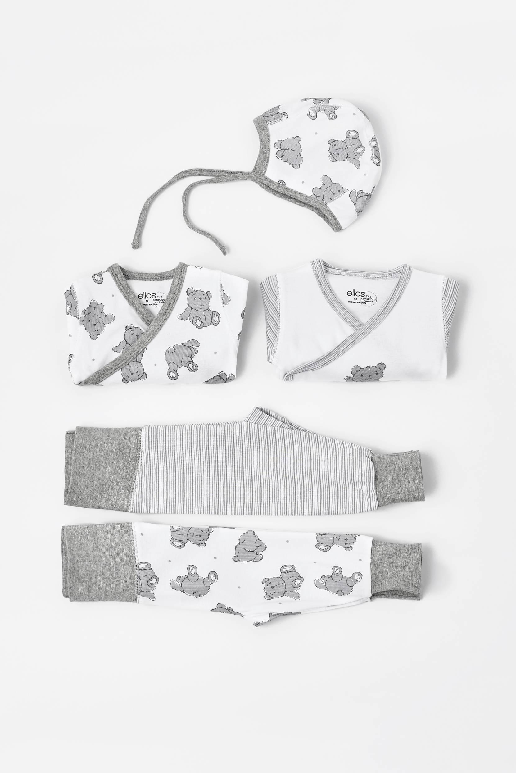 Startpaket Fideli för baby, 5 delar i ekologisk bomull thumbnail