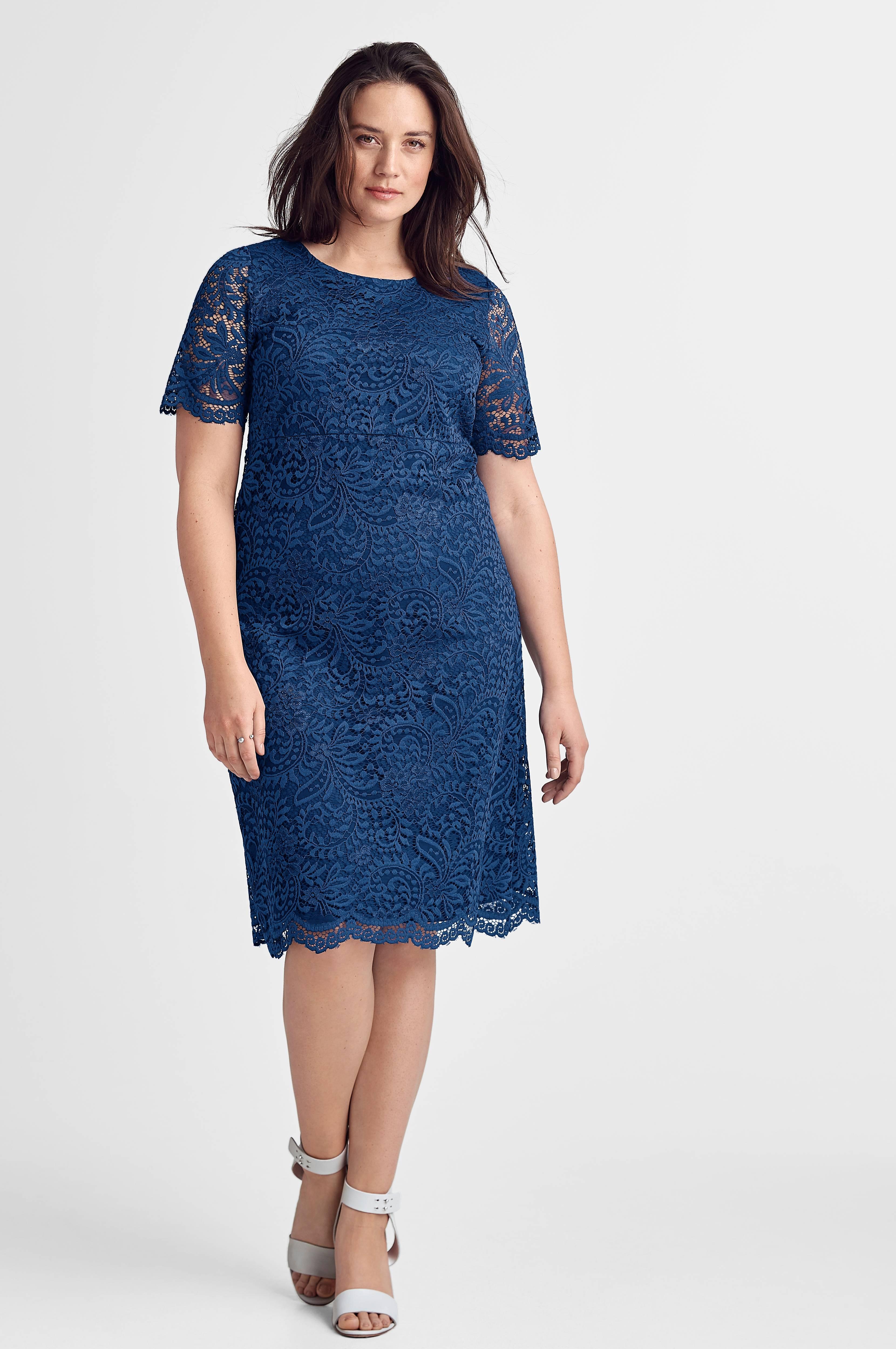 ellos blå klänning