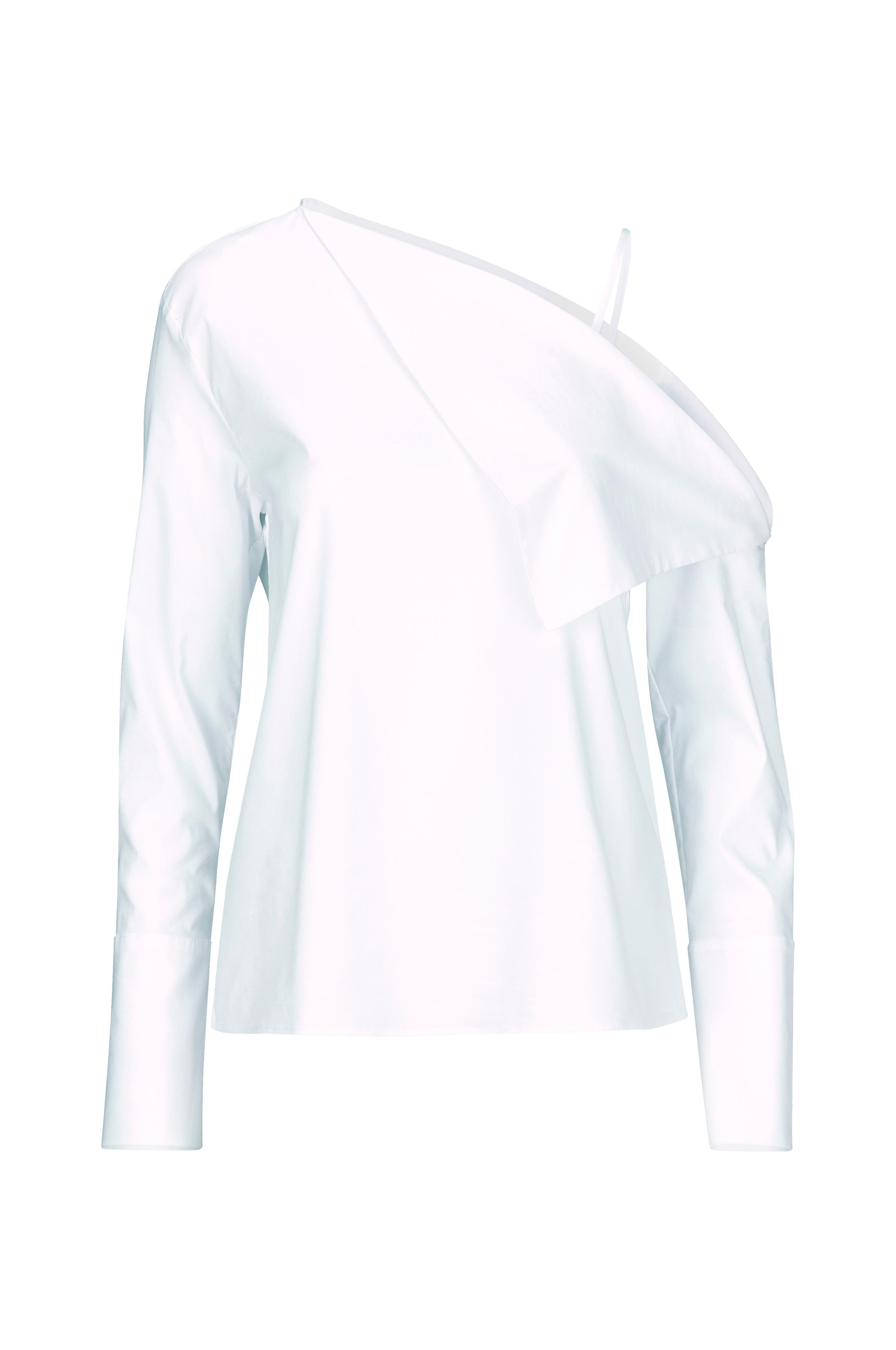Ellos Collection Skjorte i crispy bomull Hvit Skjorter