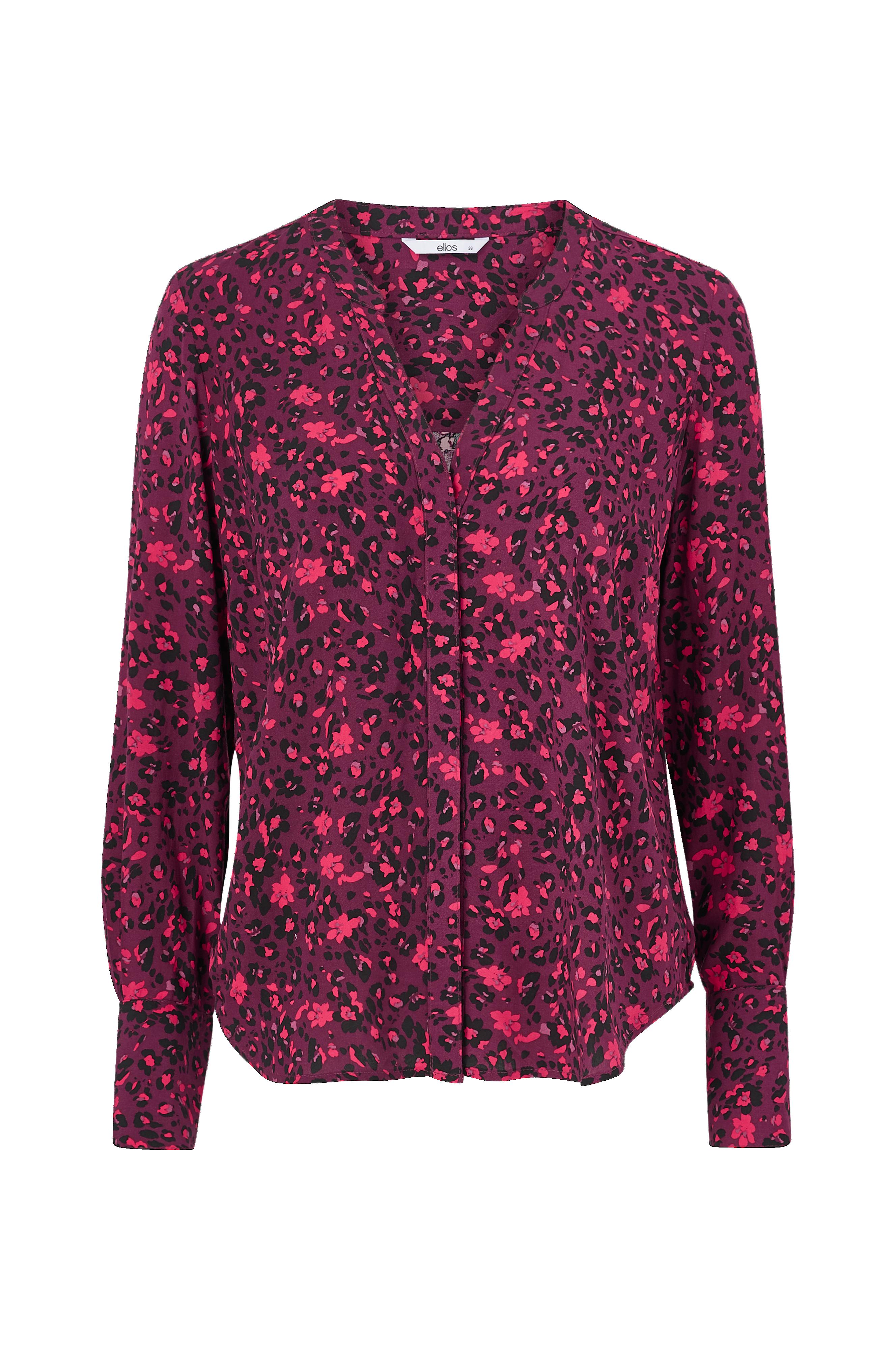 Skjorte i viskose RødBlomstret DAME | H&M NO