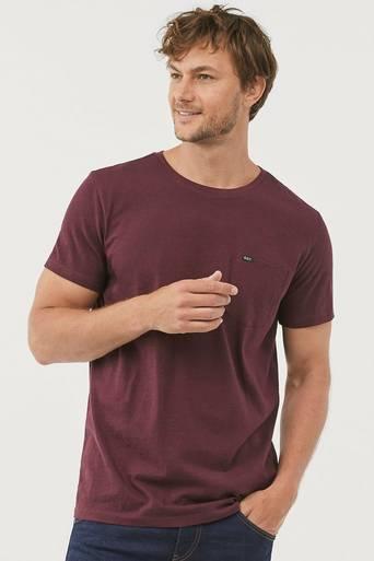 Meleerattu T-paita, jossa rintatasku