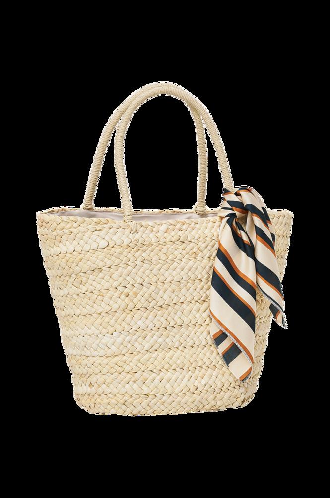 Ellos Taske Straw Scarf Bag