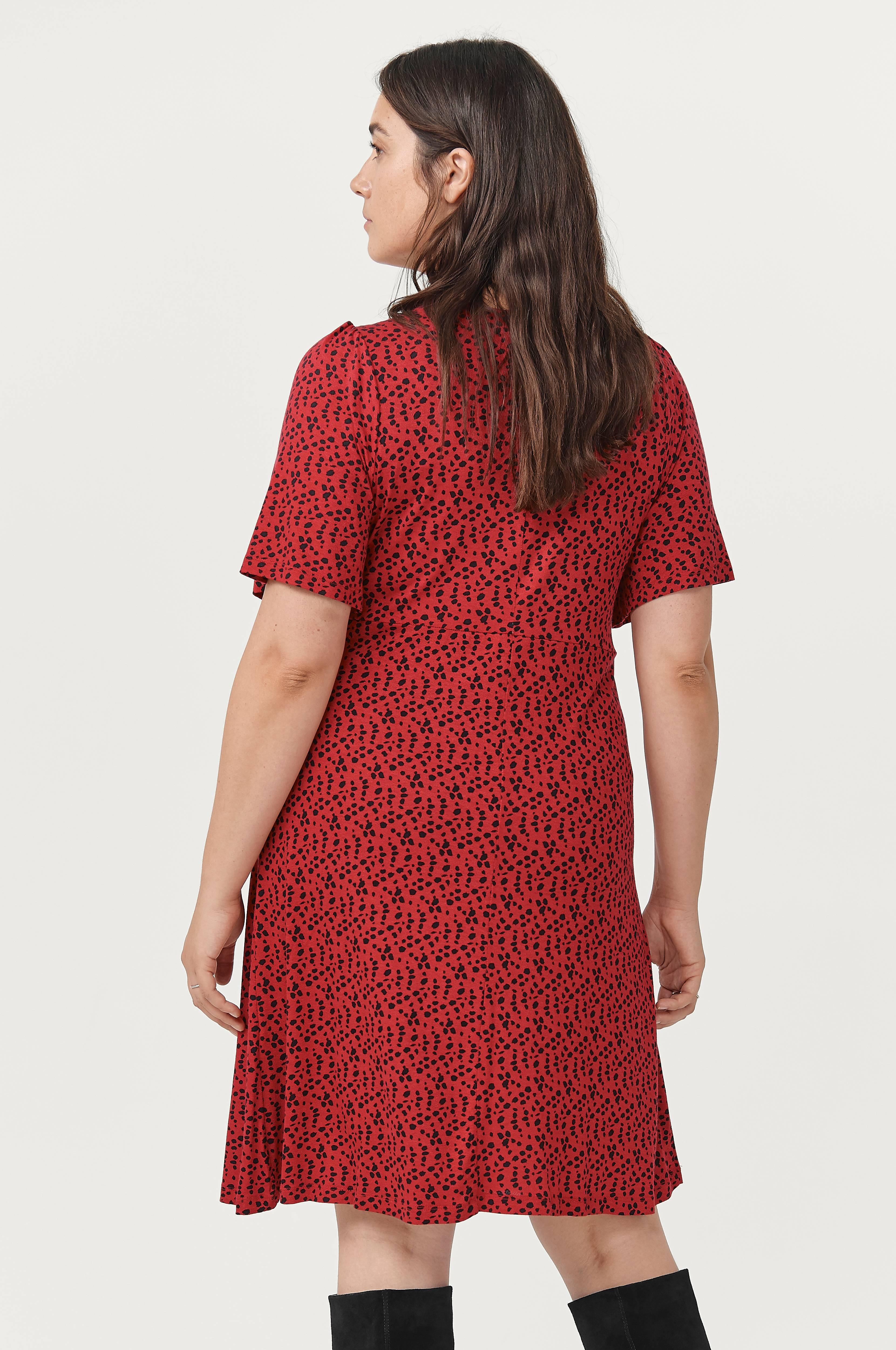 Ellos Plus collection Klänning Duni Röd Korta klänningar