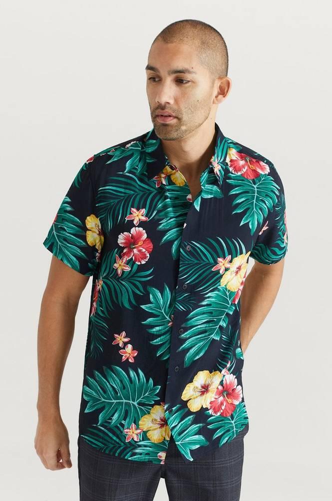 Studio Total Skjorte Printed Short Sleeve Shirt