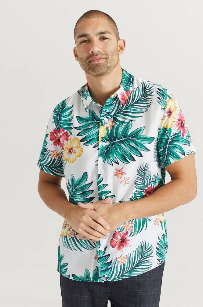 Studio Total Skjorte Printed Short Sleeve Shirt
