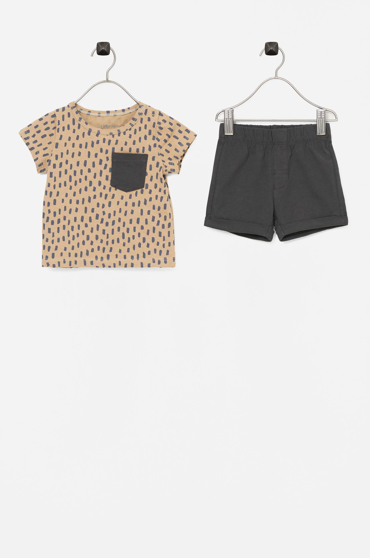 Ellos - T-shirt + Shorts Sam - Natur