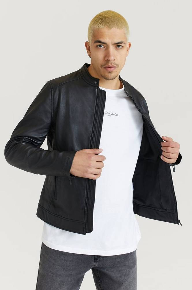 Studio Total Skindjakke Clean Leather Racer Jacket