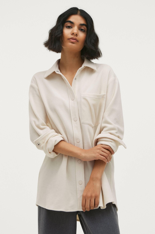 Ellos - Skjortjacka Gigi i fleece - Natur