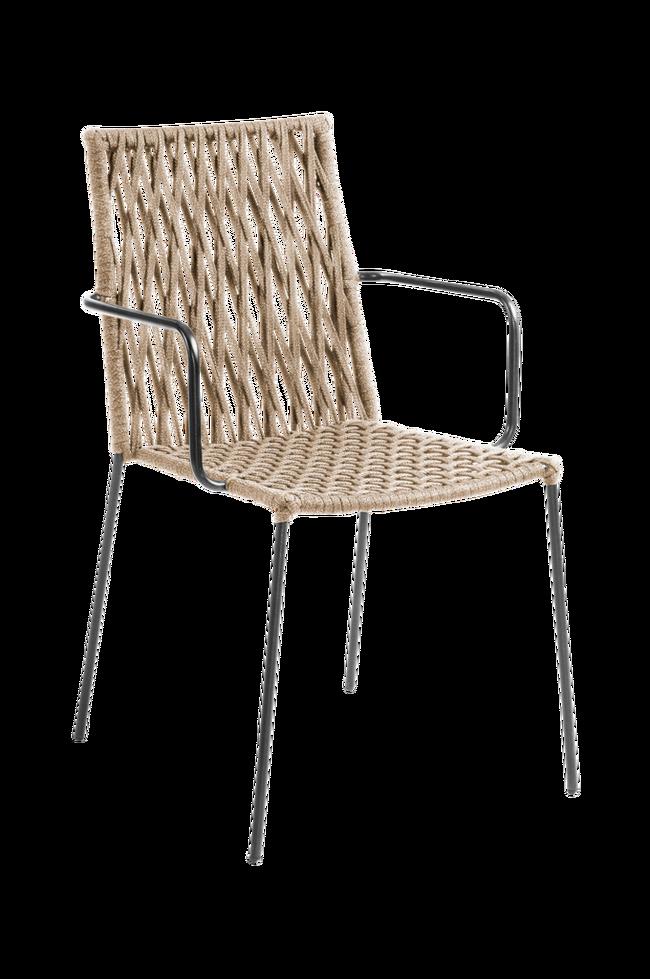 Bilde av BETTIE stol metall/tau, 4-pk