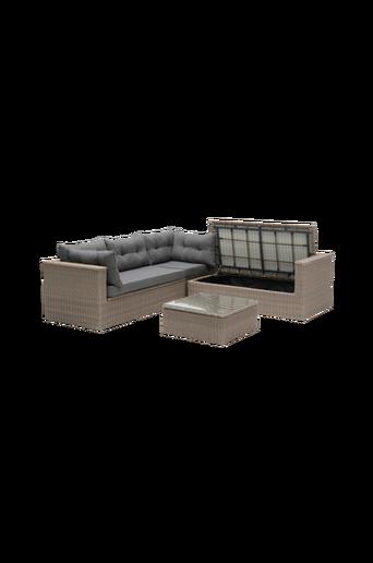 MAITLAND Lounge kulmasohva ja pöytä