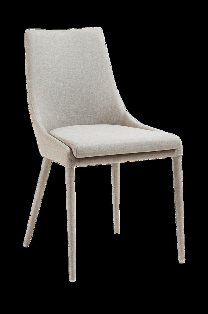 DANT stol ljusgrå textil 2-pack