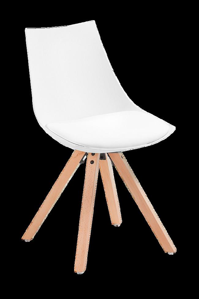 Bilde av ARMONY stol tre/hvit plast, 4-pk