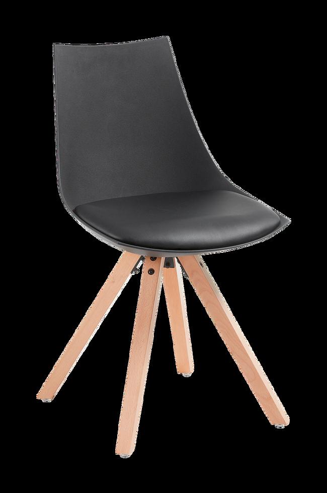 Bilde av ARMONY stol tre/svart plast, 4-pk