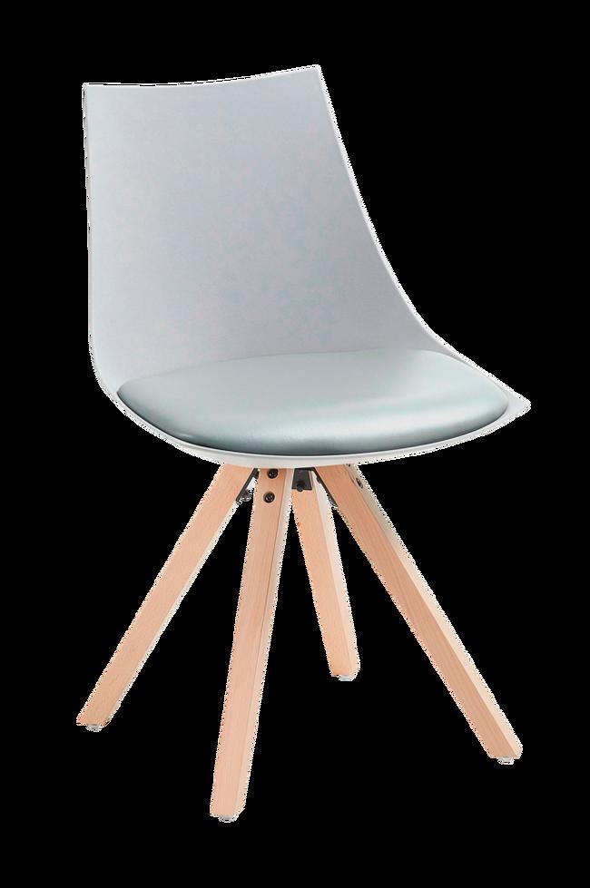 Bilde av ARMONY stol tre/grå plast, 4-pk