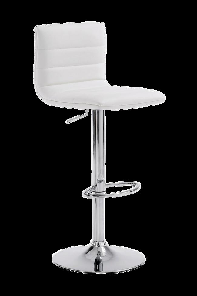 Bilde av DANAE barstol krom/hvit PU, 2-pk