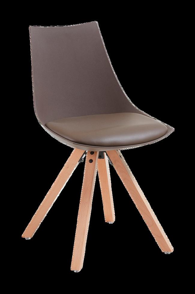 ARMONY stol trebrun plast, 4 pk | UTDinterior