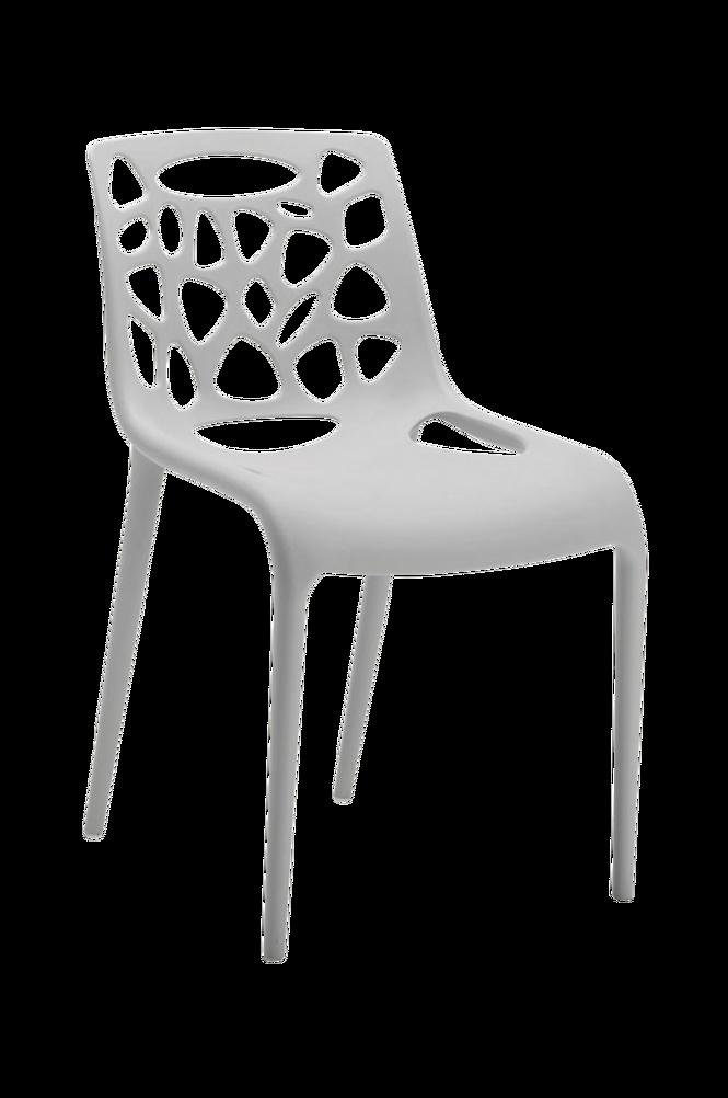 GUNA stol ljusgrå plast 4-pack