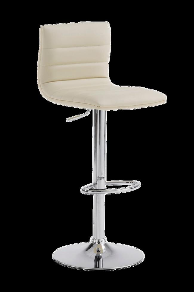 Bilde av DANAE barstol krom/perlegrå PU, 2-pk