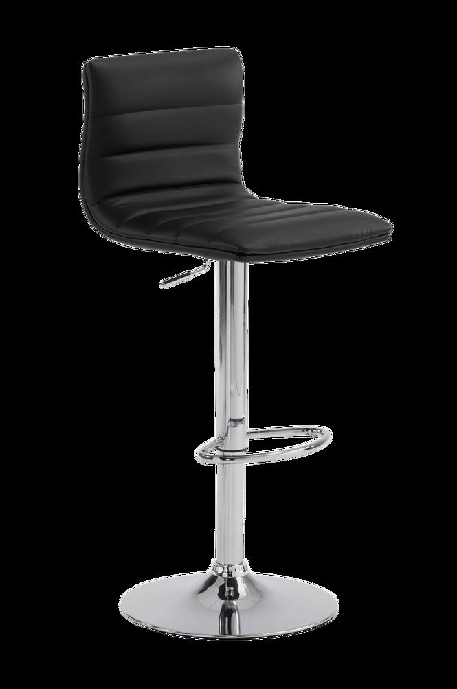 DANAE barstol krom/svart PU 2-pack