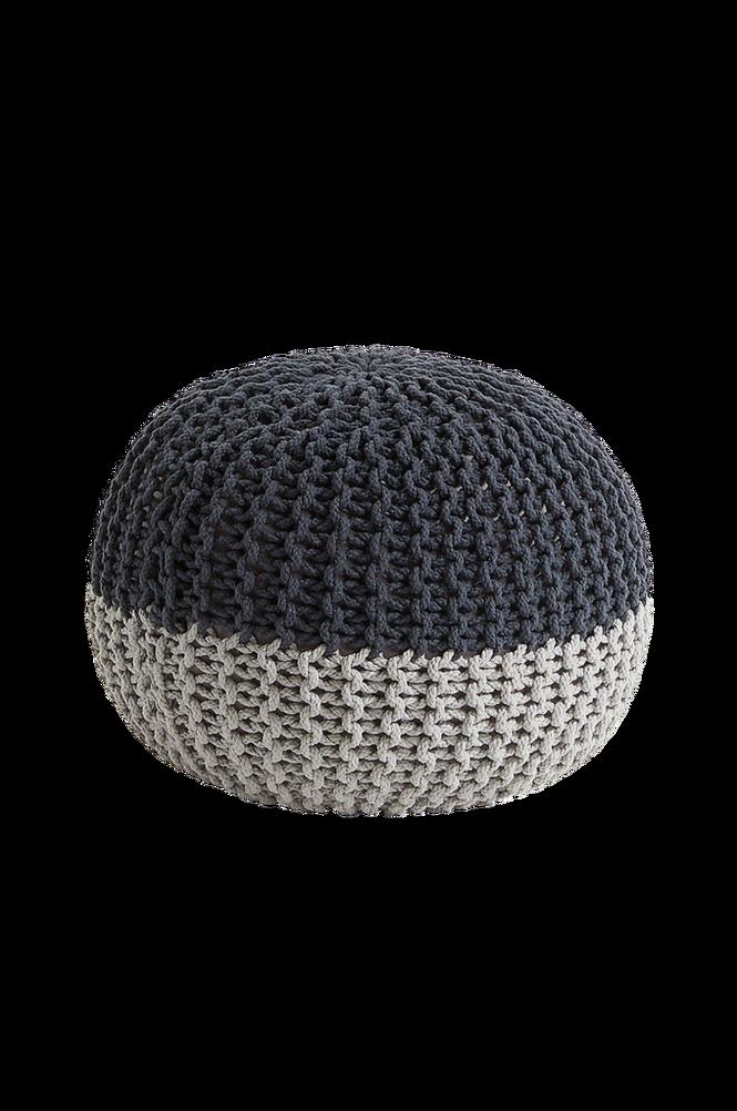 Puff ARIEH rund 50×35 bomullstextil grå