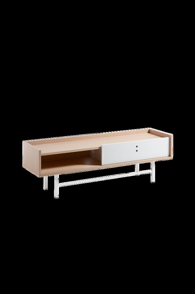 TV-bänk LISH 140×45 ekfaner/vit matt MDF