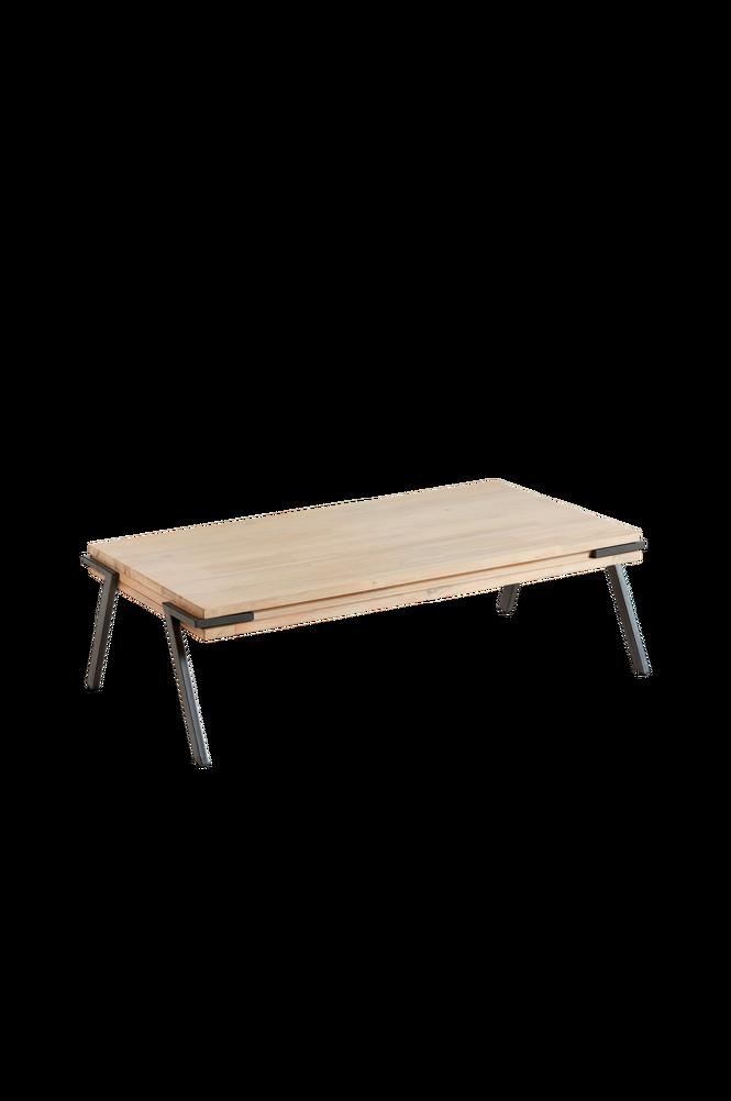 Soffbord DISSET 125×70 metall/akaciaträ
