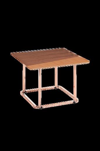 AITANA sivupöytä metallia, jossa kuparinvärinen pinta / puuviilua