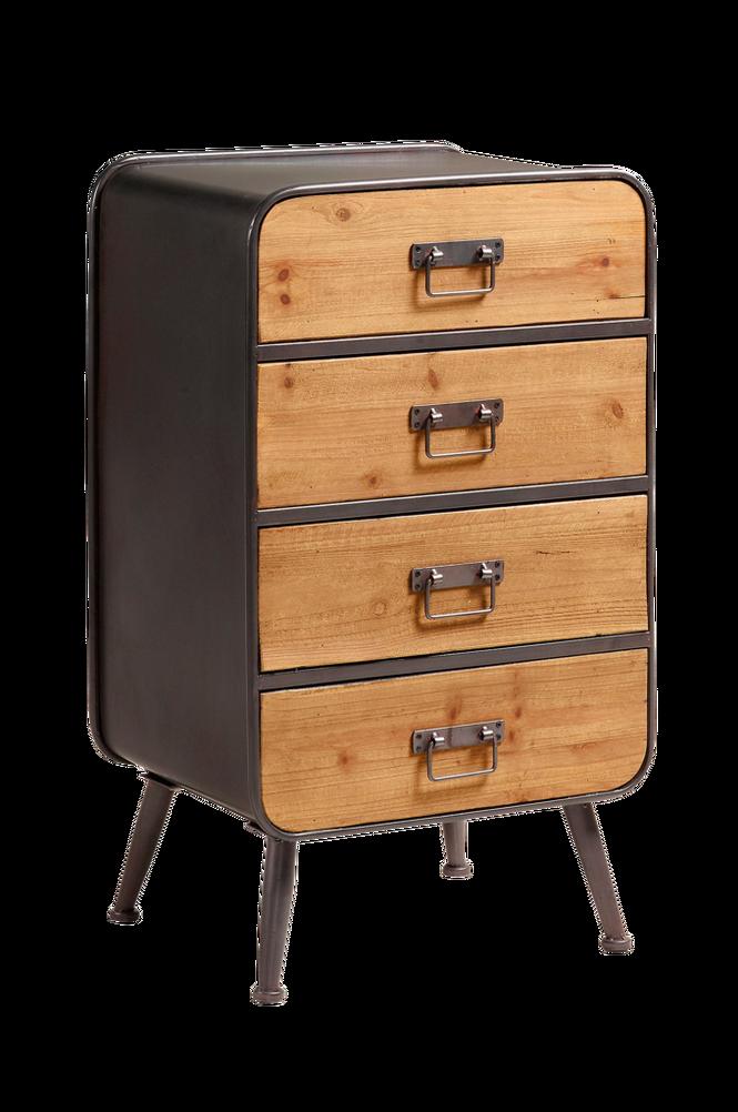 Sideboard HELIA 48×83 grå metall/trä