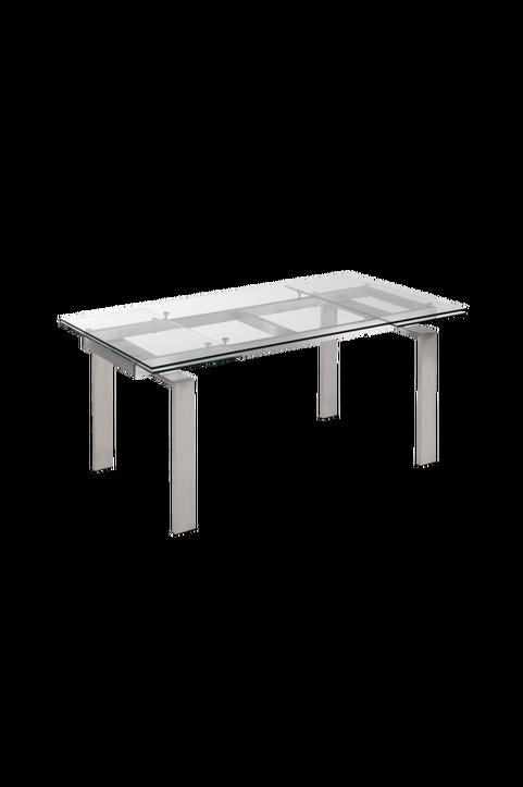 Bord CORONA 160(240)x85 rostfritt stål/transparent glas