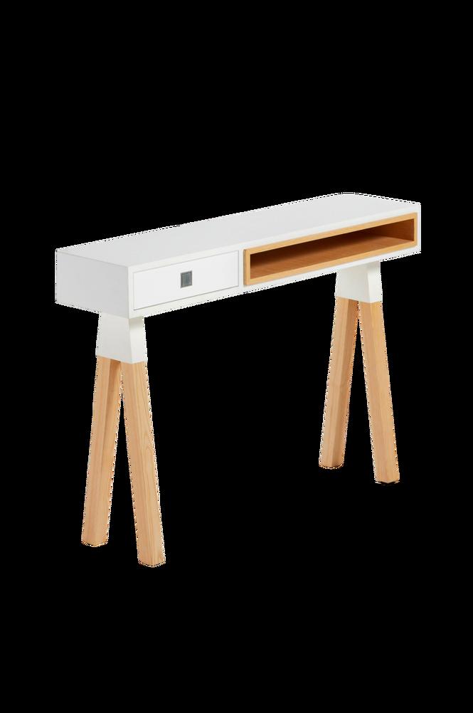 Avlastningsbord STICK 120×84 ask/matt vitlackerat