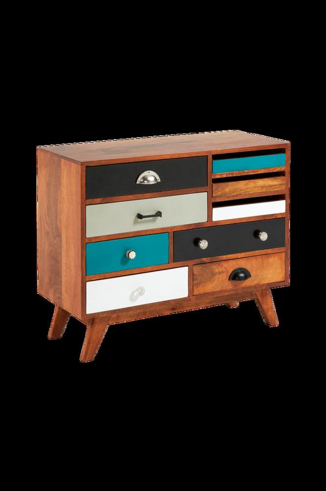 Sideboard COLLIN 80×65 mangoträ/flerfärgad